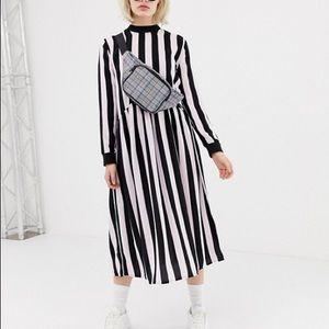 Collusion Midi Smock Dress